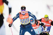 DAVOS, SCHWEIZ - 2016-12-09: Kikkan Randall under tr&auml;ning inf&ouml;r Viessmann FIS Cross Country World Cup den 9 december, 2016 i Davos, Schweiz. Foto: Nils Petter Nilsson/Ombrello<br /> ***BETALBILD***