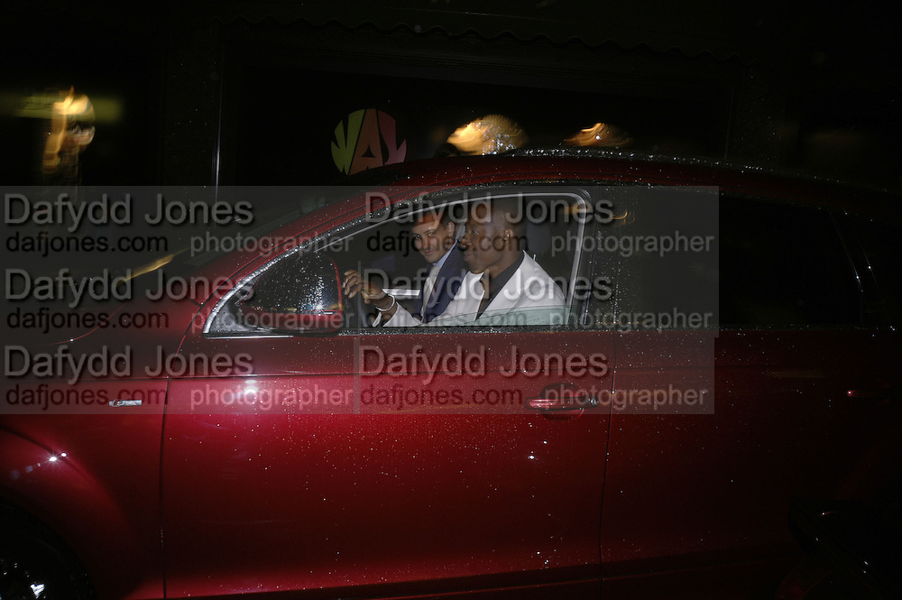 AMIR BOUSSEAU AND FRANK OBI, De Grisogono &amp; Londino Car Rally  party. <br />Pal Zileri, Hans Crescent London, W1, 22 August. Launch of car rally which takes drivers through London, France, Switzerland and finally to Portofino .  -DO NOT ARCHIVE-&copy; Copyright Photograph by Dafydd Jones. 248 Clapham Rd. London SW9 0PZ. Tel 0207 820 0771. www.dafjones.com.