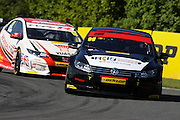 Double race winner, Jason Plato, during the Dunlop MSA British Touring Car Championship at Oulton Park, Budworth, Cheshire, United Kingdom on 7th June 2015. Photo by Aaron Lupton.