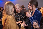 EDIE CAMPBELL; PIXIE GELDOF;  LILY RIDGE, The Vogue Festival 2012 in association with Vertu- cocktail party. Royal Geographical Society. Kensington Gore. London. SW7. 20 April 2012.