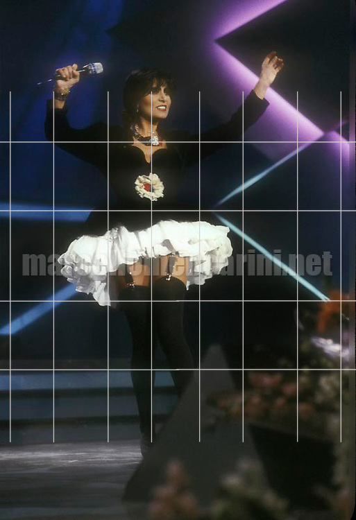"Sanremo Music Festival 1988. Italian pop singer Loredana Bertè performing her song ""Io"" / Festival di Sanremo 1988. Loredana Bertè canta ""Io"" - © Marcello Mencarini"