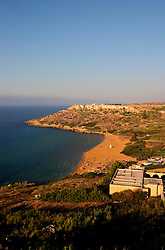 MALTA GOZO RAMLA 24JUL06 - General view of the golden sandy beach of Ramla on Gozo...jre/Photo by Jiri Rezac..© Jiri Rezac 2006..Contact: +44 (0) 7050 110 417.Mobile:  +44 (0) 7801 337 683.Office:  +44 (0) 20 8968 9635..Email:   jiri@jirirezac.com.Web:    www.jirirezac.com