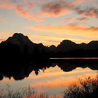 Sunset at Oxbow Bend<br /> Grand Teton National Park<br /> Wyoming
