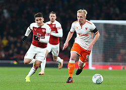 October 31, 2018 - London, England, United Kingdom - London, UK, 31 October, 2018.Blackpool's Mark Cullen.During Carabao Cup fourth Round between Arsenal and Blackpool at Emirates stadium , London, England on 31 Oct 2018. (Credit Image: © Action Foto Sport/NurPhoto via ZUMA Press)