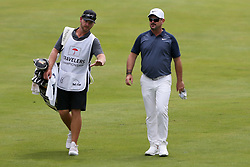 June 22, 2018 - Cromwell, Connecticut, United States - Rory Sabbatini (R) and his caddie walk the 8th fairway during the second round of the Travelers Championship at TPC River Highlands. (Credit Image: © Debby Wong via ZUMA Wire)
