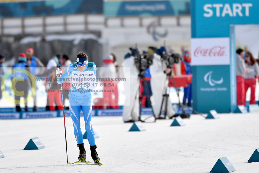 GERLITS Alexandr KAZ LW6 competing in the ParaSkiDeFond, Para Nordic Skiing, 20km at  the PyeongChang2018 Winter Paralympic Games, South Korea.