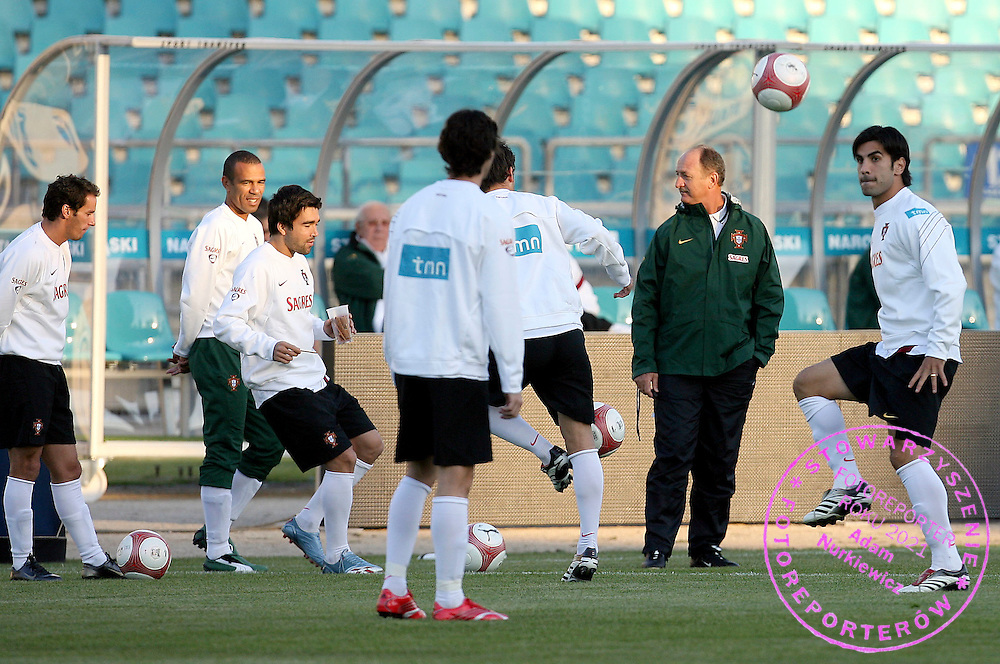 CHORZOW 10/10/2006 ..Euro 2008 QUALIFIER..PORTUGAL Training Session..Luis Felipe Scolari Manager Portugal..fot. piotr hawalej / wrofoto