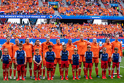15-06-2019 FRA: Netherlands - Cameroon, Valenciennes<br /> FIFA Women's World Cup France group E match between Netherlands and Cameroon at Stade du Hainaut / Team Netherlands Dominique Bloodworth #20 of the Netherlands, Jackie Groenen #14 of the Netherlands, Lieke Martens #11 of the Netherlands, Daniëlle van de Donk #10 of the Netherlands, Vivianne Miedema #9 of the Netherlands, Sherida Spitse #8 of the Netherlands, Shanice van de Sanden #7 of the Netherlands, Anouk Dekker #6 of the Netherlands, Kika van Es #5 of the Netherlands, Desiree van Lunteren #2 of the Netherlands, Sari van Veenendaal #1 of the Netherlands
