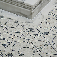 Residential  bath remodel in Hillsborough with a custom tile floor.
