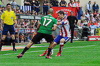 Atletico de Madrid´s Gabi and Athletic Club´s Mikel Rico during 2014-15 La Liga match between Atletico de Madrid and Athletic Club at Vicente Calderon stadium in Madrid, Spain. May 02, 2015. (ALTERPHOTOS/Luis Fernandez)