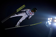 Poland, Wisla Malinka - 2017 November 18: Peter Prevc from Slovenia soars through the air during FIS Ski Jumping World Cup Wisla 2017/2018 - Day 2 at jumping hill of Adam Malysz on November 18, 2017 in Wisla Malinka, Poland.<br /> <br /> Mandatory credit:<br /> Photo by © Adam Nurkiewicz<br /> <br /> Adam Nurkiewicz declares that he has no rights to the image of people at the photographs of his authorship.<br /> <br /> Picture also available in RAW (NEF) or TIFF format on special request.<br /> <br /> Any editorial, commercial or promotional use requires written permission from the author of image.