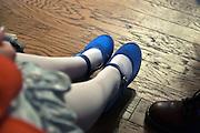 dressed up girl feet