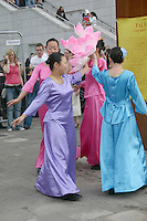Dancers at the World festival of cultures, Dun Laoghaire, County Dublin, Ireland<br />
