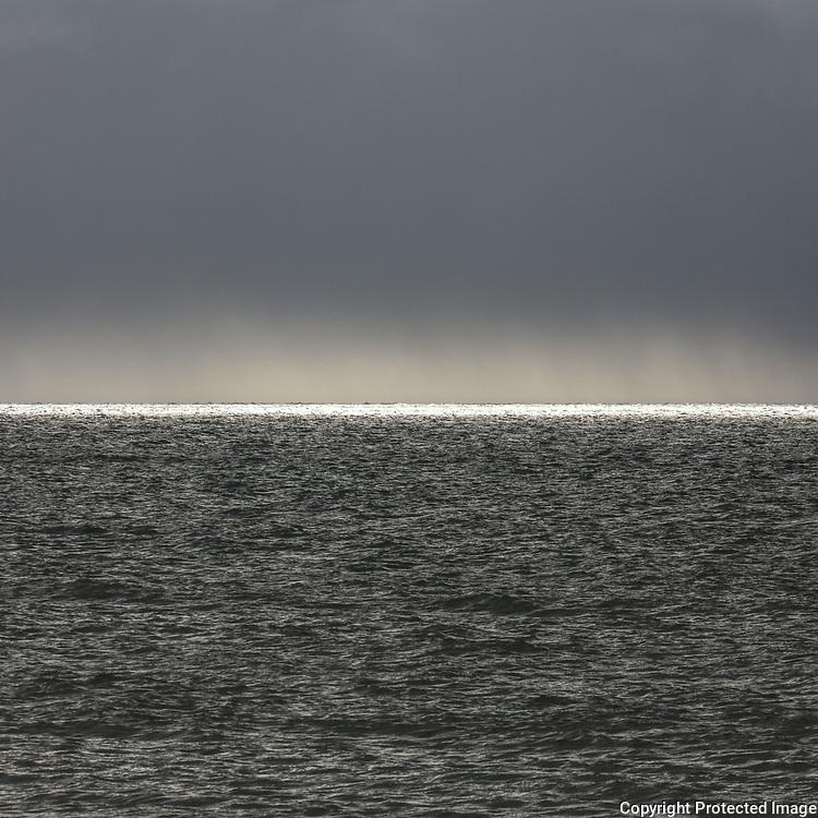 White horizon, Irish Sea, Dumfries and Galloway, Scotland.