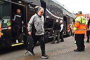 Leeds United Manager Marcelo Bielsa gets of the team bus on arrival at Ashton Gate Stadium before the EFL Sky Bet Championship match between Bristol City and Leeds United at Ashton Gate, Bristol, England on 9 March 2019.