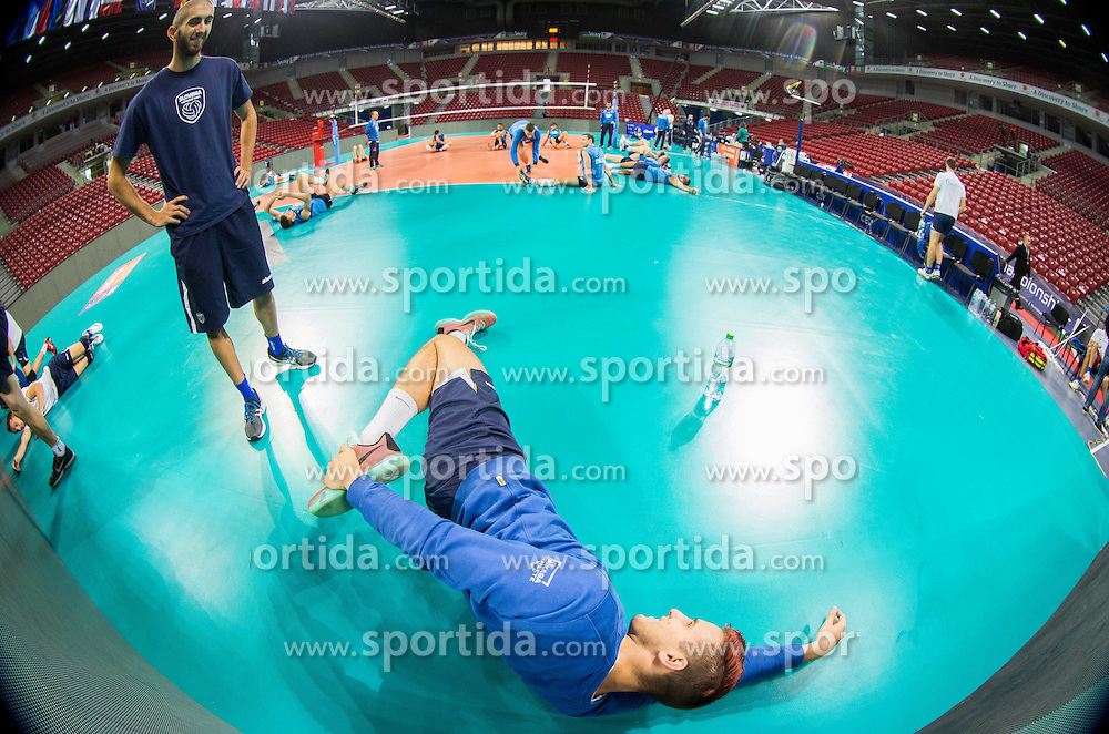 Jan Kozamernik during practice session of Slovenian National Volleyball team in the morning before Semifinal match against Italy at 2015 CEV Volleyball European Championship - Men, on October 17, 2015 in Arena Armeec, Sofia, Bulgaria. Photo by Vid Ponikvar / Sportida