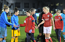 Players and mascots shake hands - Mandatory by-line: Paul Knight/JMP - 02/12/2017 - FOOTBALL - Stoke Gifford Stadium - Bristol, England - Bristol City Women v Brighton and Hove Albion Ladies - Continental Cup Group 2 South