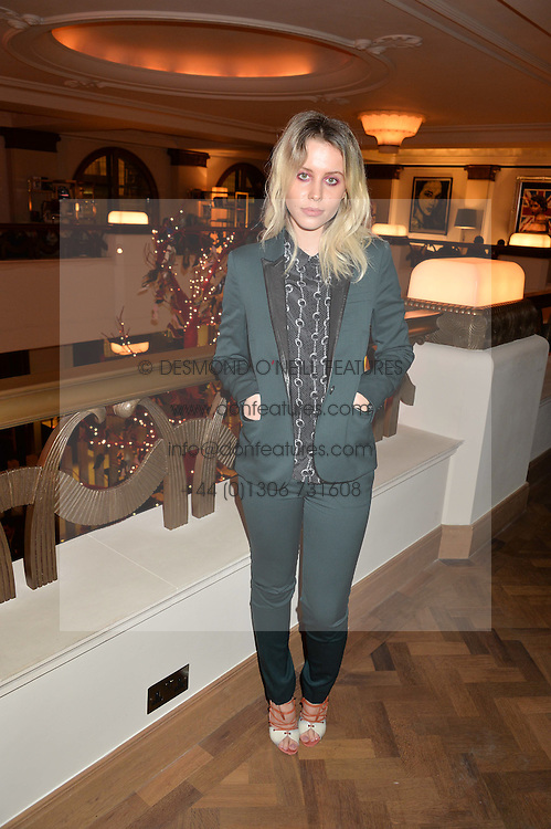 BILLIE JD PORTER at the unveiling of a Very Special Malone Souliers Christmas Tree, In Support Of Starlight Children's Foundation held at The Club Cafe Royal, Regent Street, London on 2nd December 2015.