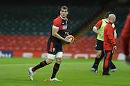 Sam Warburton in action. Wales rugby team training at the Millennium stadium,  Cardiff in South Wales on Thursday 15th November 2012.  pic by Andrew Orchard, Andrew Orchard sports photography,