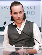 Designer David Neville of Rag & Bone speaks at the 2008 CFDA Fashion Awards Nominee Announcement in the Rooftop Gardens at Rockefeller Center in New York City, USA on March 10, 2008.