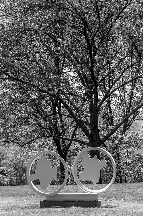 Assorted Black and White image at Storm King. Storm King Art Center, commonly referred to as Storm King and named after its proximity to Storm King Mountain, is an open-air museum located in Mountainville, New York. It contains what is perhaps the largest collection of contemporary outdoor sculptures in the United States.