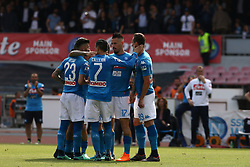 May 6, 2018 - Naples, Italy - Players of SSC Napoli celebrate the 2-1 goal scored by Marek Hamsik during the serie A match between SSC Napoli and Torino FC at Stadio San Paolo on May 6, 2018 in Naples, Italy. (Credit Image: © Paolo Manzo/NurPhoto via ZUMA Press)