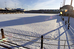 EAST STIRLING'S GROUND UNDER SNOW...PIC : MICHAEL SCHOFIELD