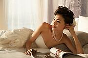 Wedding promotion photo for W Hotel Hong Kong.<br /> Model: Phuong Rouzaire<br /> Makeup Artist: Rhine Wong<br /> Hair Stylist: Tim Wong<br /> Photographer: Imagennix | Scott Brooks<br /> Location: Marvelous Suite