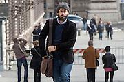 2013/03/29 Roma, politici in Piazza Montecitorio. Nella foto Roberto Fico.<br /> Rome, politicians in Montecitorio Square. In the picture Roberto Fico - &copy; PIERPAOLO SCAVUZZO