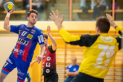 30.03.2019, Sporthalle Leoben Donawitz, Leoben, AUT, spusu HLA, Union JURI Leoben vs Sparkasse Schwaz Handball Tirol, Qualifikationsrunde, 9. Spieltag, im Bild Thomas Kuhn (Union JURI Leoben) // during the spusu Handball League Austria qualification round, 9th round match between Union JURI Leoben and Sparkasse Schwaz Handball Tirol at the Sporthalle Leoben Donawitz in Leoben, Austria on 2019/03/30. EXPA Pictures © 2019, PhotoCredit: EXPA/ Dominik Angerer
