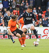 Dundee's Luka Tankulic and Dundee United's John Rankin  - Dundee United v Dundee at Tannadice Park in the SPFL Premiership<br /> <br />  - © David Young - www.davidyoungphoto.co.uk - email: davidyoungphoto@gmail.com