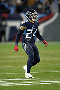 Tennessee Titans strong safety Kenny Vaccaro (24) chases the action during the week 14 regular season NFL football game against the Jacksonville Jaguars on Thursday, Dec. 6, 2018 in Nashville, Tenn. The Titans won the game 30-9. (©Paul Anthony Spinelli)