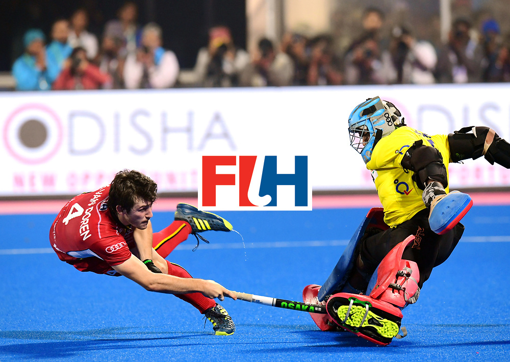 Odisha Men's Hockey World League Final Bhubaneswar 2017<br /> Match id:13<br /> Belgium v India<br /> Foto: Shoot Out<br /> Arthur van Doren (Bel)  scored<br /> COPYRIGHT WORLDSPORTPICS FRANK UIJLENBROEK