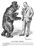 "His Furry Friend. Mr Arthur Henderson. ""If I'm to let you hug me, you must first promise not to squeeze."" Soviet Bear. ""Let me hug you first and we'll discuss the other matter afterwards."""