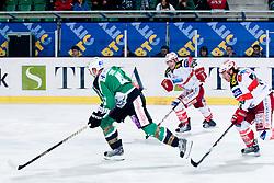 Jeff Tory (HDD Tilia Olimpija, #47) chased by EC KAC players during ice-hockey match between HDD Tilia Olimpija and EC KAC in 32nd Round of EBEL league, on December 30, 2010 at Hala Tivoli, Ljubljana, Slovenia. (Photo By Matic Klansek Velej / Sportida.com)