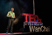 Darius Agbeko Kokou Dzadu speaks on stage during the TEDxWanChai event Emergence on Jun 2, 2018, in Hong Kong. / Moses Ng / MozImages