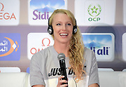 Sandi Morris (USA) at an IAAF Diamond League press conference prior to the  Meeting International Mohammed VI d'Athletisme de Rabat 2019, Saturday, June 15, 2019, in Rabat, Morocco. (Image of Sport)