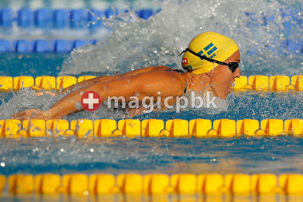 Therese ALSHAMMAR of Sweden competes in the women's 100m Butterfly Semifinal 2 at the European Swimming Championship at the Hajos Alfred Swimming complex in Budapest, Hungary, Thursday, Aug. 12, 2010. (Photo by Patrick B. Kraemer / MAGICPBK)