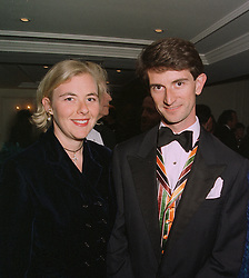 COUNT MANFREDI DELLA GHERARDESCA and PRINCESS DORA LOEWENSTEIN,  at a dinner in London on April 14th 1997.LXO 57