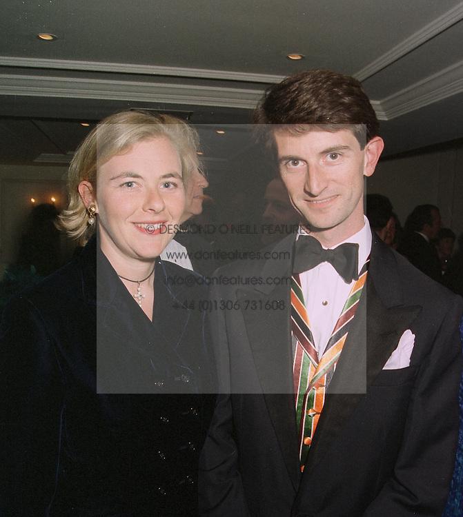 COUNT MANFREDI DELLA GHERARDESCA and PRINCESS DORA LOEWENSTEIN,  at a dinner in London on April 14th 1997.LXO 57