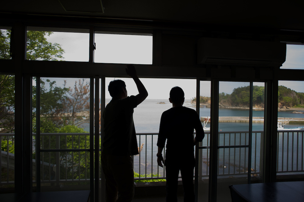 May 28, 2013 - Togura, Japan: A survivor from the devastating earthquake and tsunami that hit the east coast of Japan in 2011, recounts the moment he saw his neighbours been dragged to see by the waves. (Paulo Nunes dos Santos)