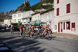 Esther van Veen (NED) leads the break at Tour Cycliste Féminin International de l'Ardèche 2018 - Stage 1, a 65.6km road race from Saint Marcel d'Ardèche to Beauchastel, France on September 13, 2018. Photo by Sean Robinson/velofocus.com