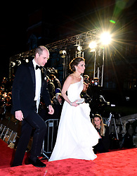 The Duke and Duchess of Cambridge attending the 72nd British Academy Film Awards held at the Royal Albert Hall, Kensington Gore, Kensington, London.