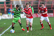 Forest Green Rovers Christian Doidge(9) during the Vanarama National League match between Wrexham FC and Forest Green Rovers at the Racecourse Ground, Wrexham, United Kingdom on 26 November 2016. Photo by Shane Healey.