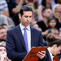 02 April 2017: San Antonio Spurs assistant coach James Borrego is seen during the San Antonio Spurs 109-103 victory over the Utah Jazz, at the AT&T Center, San Antonio, Texas, USA.