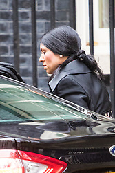 Downing Street, London, November 15th 2016.  International Development Secretary Priti Patel arrives in Downing Street for the weekly cabinet meeting.