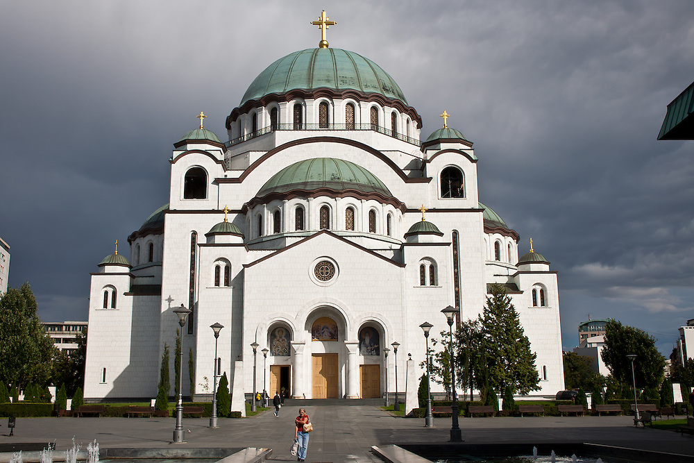 Saint Sava Cathedral, a landmark of Belgrade, Serbia, is the world's third largest Orthodox building. Built on the site where the holy relics of Saint Sava were desecrated by Ottoman rulers in 1594, it is still under construction. The work began in 1935, but has been repeatedly interrupted by wars in the region.