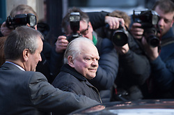 © London News Pictures. 13/02/2014. London, UK. Actor David Jason arriving at the church..  The funeral of actor Roger Lloyd-Pack at St Pauls Church also known as 'The Actor's Church'  in Covent Garden, London. Roger Lloyd-Pack was famous for playing roles such as Trigger in Only Fools and Horses and Owen Newitt in the The Vicar of Dibley. Photo credit : Ben Cawthra/LNP