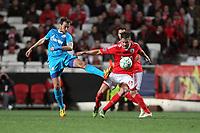 20120306: LISBON, PORTUGAL - Champions League 2011/2012 - 2st leg: SL Benfica vs Zenit FC.<br /> In picture: Benfica's midfielder Javi Garcia tackle by Zenit's midfielder Vladimir Bystrov.<br /> PHOTO: Carlos Rodrigues/CITYFILES
