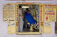An old barber shop in Pushkar, Rajasthan, India